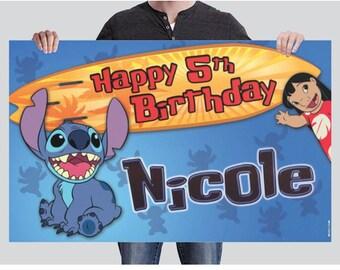 BANNER - Lilo & Stitch Birthday Banner