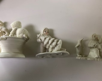 3 snow babies collectible figure