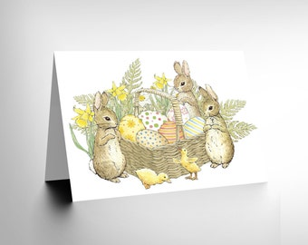 Easter Card / Peter Rabbit Card / Easter Bunnies / Beatrix Potter CL1430