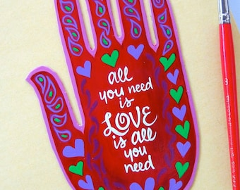 Magnet, Henna , Mehndi Hand , Heart, Magnet ,  Made To Order