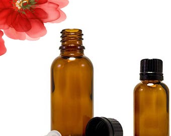 10 ml (1/3 oz),30ml(1oz),50ml(1.7Oz) empty amber glass bottle with euro dropper for aromatherapy and essential oils