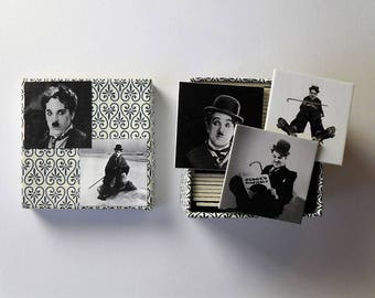 memory game Charlie Chaplin silent movie moviestar matching game