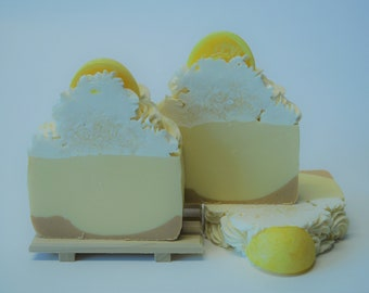 Lemon Meringue Pie Artisan Soap Small Bar