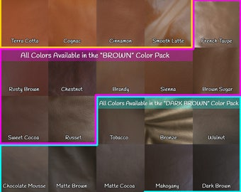 Leather Samples for Mautto Straps - Choose Colors or Packs - Suede & Webbing Samples Also Available