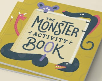 The Monster Activity Book | Monsters, Coloring Book, Activities, Drawing, Art, Children, Kids, Creativity, Learning, Monster, Illustration