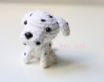 Dalmata  Kawaii Amigurumi dog doll · Handmade Crochet toy plush