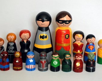 Create Your Own Super Heroes Vs Villains Chess Set