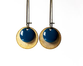 Earrings blue Sequins