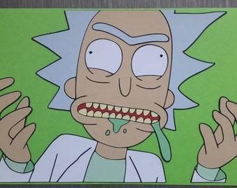 Papercut/layered Rick.