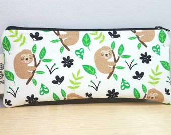 Back to School Pouch - Sloth Pencil case - Zipper pouch - Hang in there Baby - Student/Teacher Gift - Pen pouch - Back to School Case