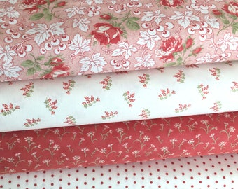 Victoria Fabric Bundle of 4 Fabrics from 3 Sisters of Moda, NEW Collection, Sold in Select A Size