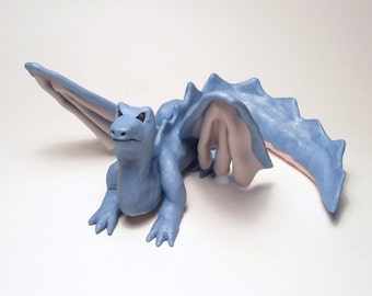 Polymer Clay Dragon Figurine OOAK
