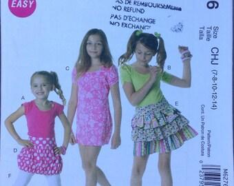 Girls fun summer separates McCalls pattern