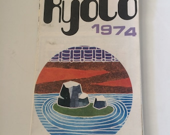 1970s Japanese Kyoto Road Map 1974