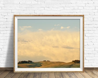 "landscape, nature prints, instant download art, printable art, photography, instant download, farmhouse chic, clouds, art -""A Note of Pink"""