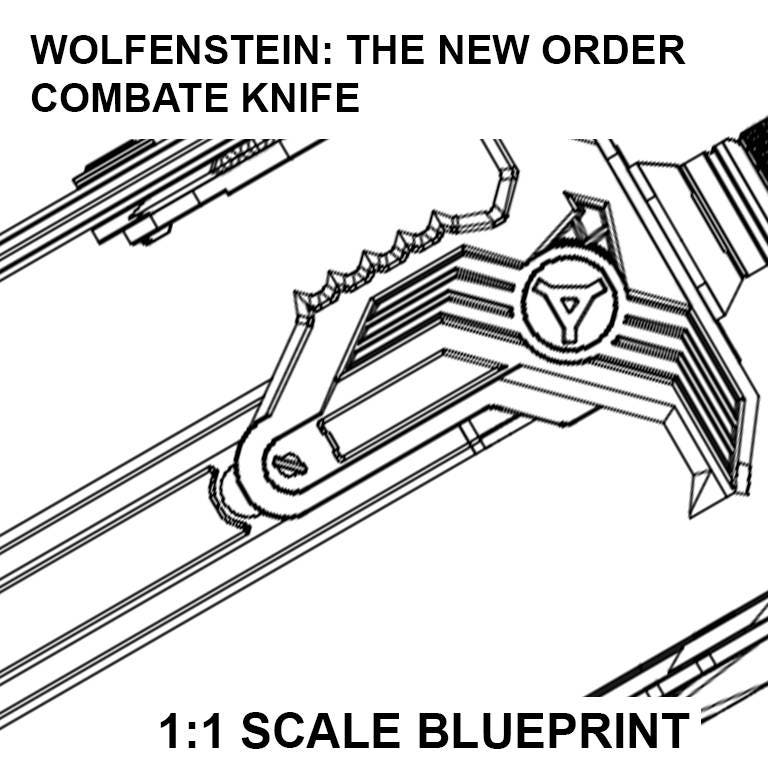 Wolfenstein the new order knife blueprint malvernweather Image collections