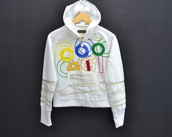 COOGI Jacket Coogi Hoodie Coogi Spellout Zipped Up Jacket Activewear Sweater Women's Size L