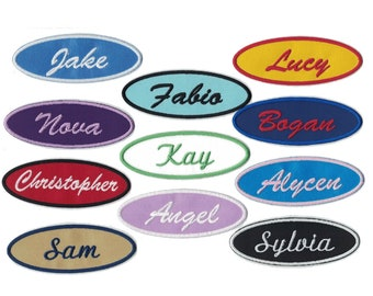 Custom Patches 1.5 X 4 Oval Personalized Patch Name Patch Iron on Patch