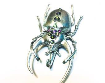 Stella's Brooch: Glamfestation // Beetle Brooch // Insect Jewelry // Insect Brooch // Jeweled Pin // Jeweled Brooch // Crystal Jewelry