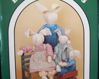 Stuffed Rabbits and Clothes Dream Spinners Pattern 120 Country Clover American Quilt Factory circa 1980s