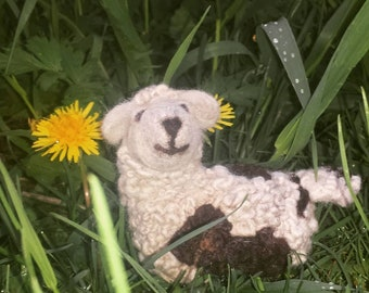 100% Wool Needle Felted Sheep
