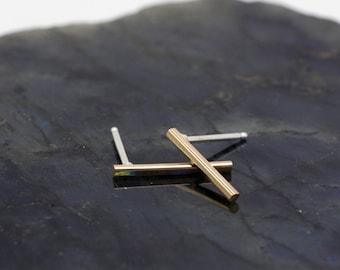 Gold Bar Earrings Elegant Earrings Minimalist Earrings, Geometric Earrings, Sophisticated Earrings, Gold Earrings, Simple Stud Earrings 3072