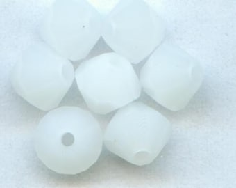Swarovski crystal beads BICONE crystal beads WHITE ALABASTER -- Available in 4mm and 6mm