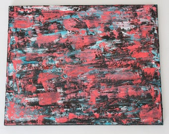 Abstract Cotton Candy Palette Knife Painting