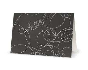 Hello greeting card - Blank notecard for Fiber Lovers