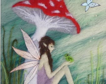Fairy needle felting tutorial - felting kit - needle felted fairy - needle felting kits - needle felting pad - needle felting- felting kit