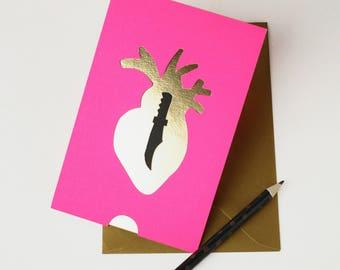 Carte St Valentin /// Expression Française réalisée à la main en papier /// Claire Colin