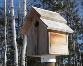 Cedar Tree Swallow Nesting Box/Bird House