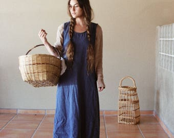 Vintage 90s Denim Sleevless Dress