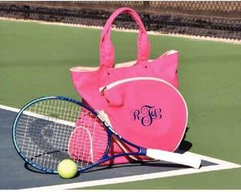 Monogrammed Tennis Bag, Personalized Tennis Bag, Custom Tennis Bag, Tennis Racket Bag, Tennis Racquet Bag, Tennis Bag, Racket Bag