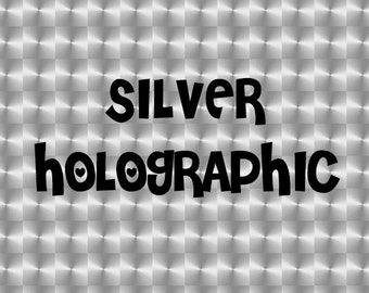 Silver Holographic Adhesive Vinyl - High Performance Vinyl