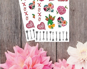 2 Pack - Valentines Day Stickers