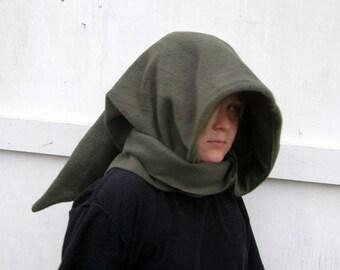 long Elven Wizard Hoodie Scarf Elf Fantasy Hat hobbit Goblin Hood