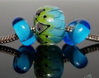 Handmade lampwork Big Hole Beads set