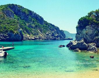Beach Photography, Turquoise Waters, Greece Print, Greece Wall Art, Beach Print, Travel Photography, Fine Art Print, Home Art Decor, Island