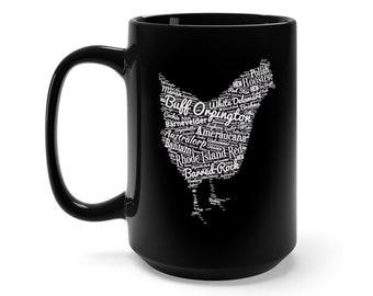 Chicken Breeds Mug 15Oz