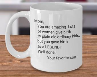 Funny Coffee Mug - Mom Son - Gift Idea