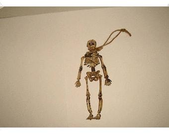 Skeleton Figure Ornament/Plastic /Holiday/ Craft Supplies*