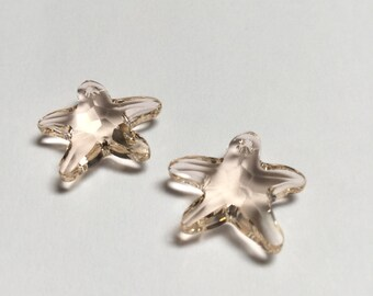 Swarovski Crystal Starfish Pendant 16 MM Silk - 4 Pieces - CB034