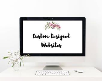 Custom Website Design on WIX - Wix Web Design Package - with Stock Images-Digital Item- WIX Website design - WIX -