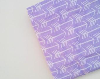 Swaddle blanket, purple arrow swaddle, muslin swaddle, summer baby blanket, girl swaddle blanket, gauze, cotton muslin, lavender arrows