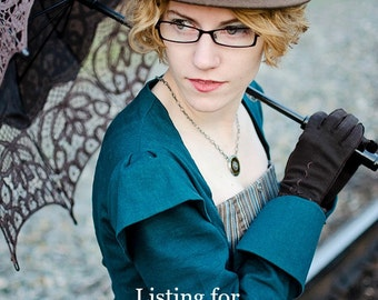 Miss Giselle goes undercover ~ Victorian Steampunk JACKET ONLY in denim twill or linen ~ long corset jacket