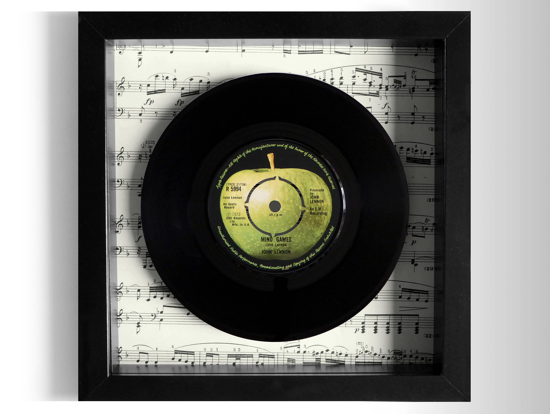 John Lennon Mind Games Framed 7 Vinyl Record