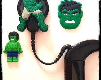 Hörgeräte Rohr Schmuckstücke oder Cochlea-Cuties: Hulk inspiriert Comic-Figuren!  Bitte wählen Sie die Menge 2 für ein paar!