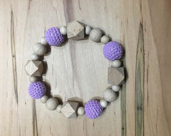 Natural Wood Baby Teething Ring / Teether / Baby Toy / Baby Gift / Teething Toy