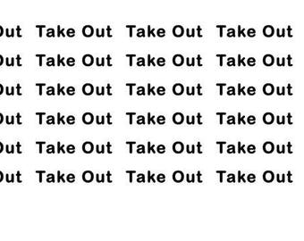 Take Out Wordy Icons WI0055